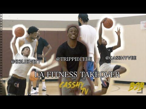 CASSHYVEE, B3LIEVEIT & TRIPPIECEE Go To LA Fitness And TAKEOVER