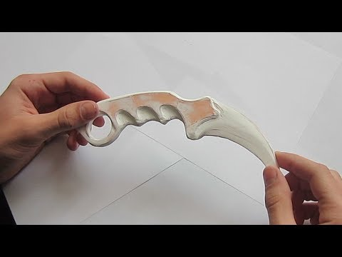 CS:GO How to make KARAMBIT (PAPER)