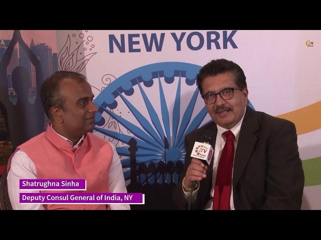 Deputy Consul General Shatrughna Sinha on International Day of Yoga