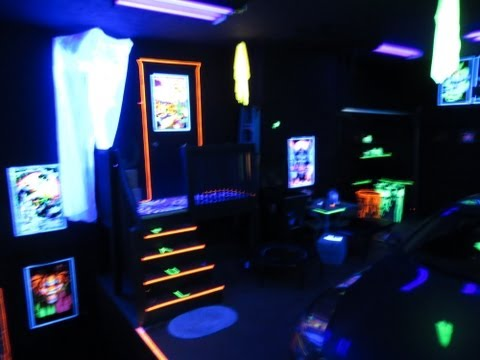 My Blacklight Garage Party Room