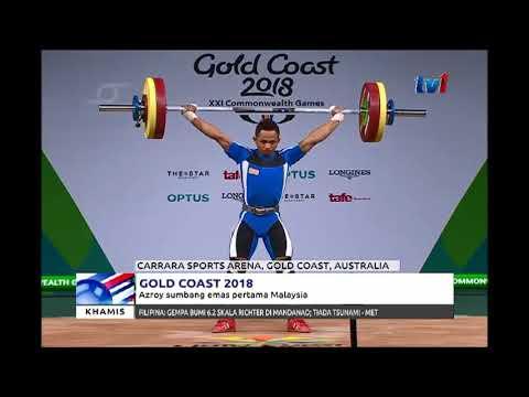 GOLD COAST 2018 - AZROY HADIAHKAN PINGAT EMAS PERTAMA NEGARA [05 APRIL 2018]