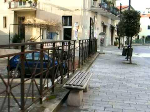 Main Street of Ascea Marina, Salerno Province, Italy