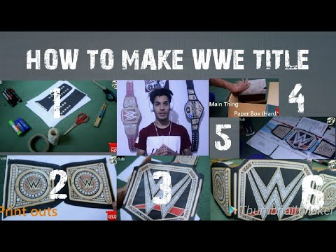 WWE #4 | how to make wwe belt | homemade wwe championship - how to make wwe championship  #wwetitle