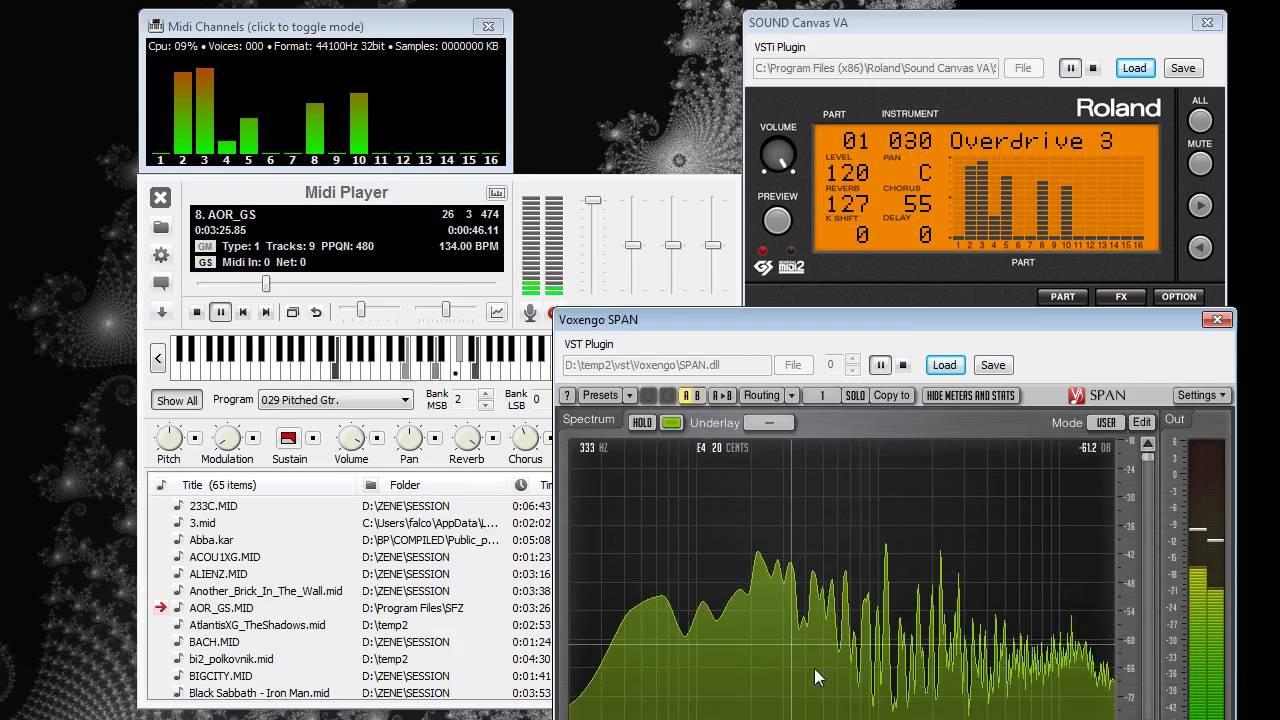 17  Midi Player - How to use VST/VSTi plugins