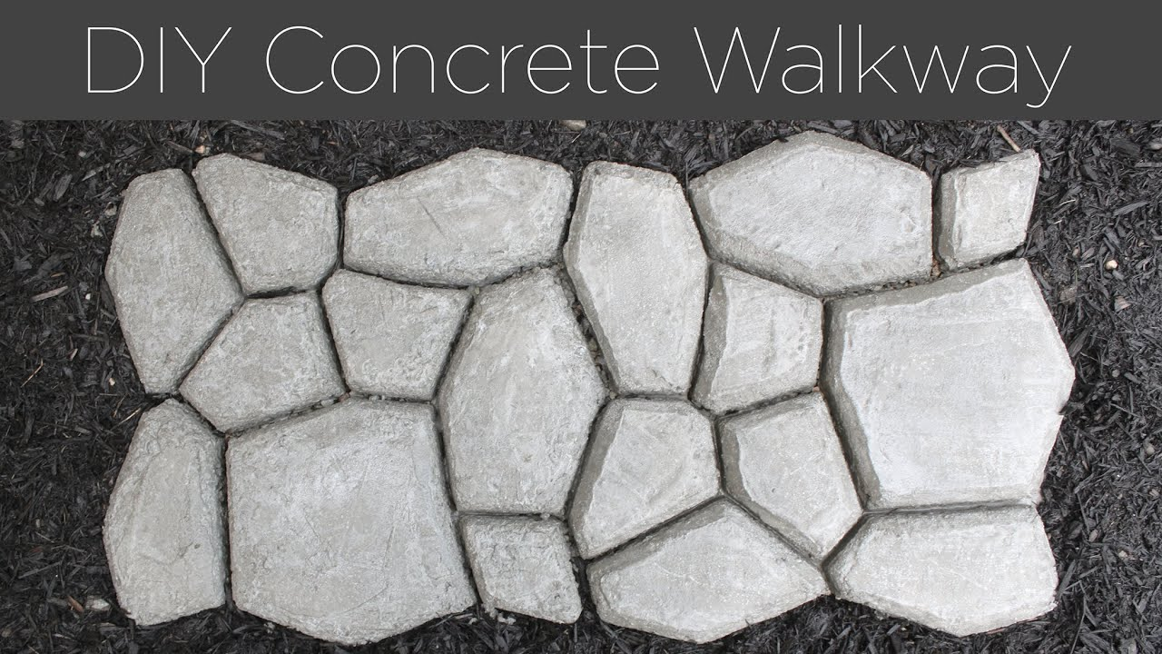 Diy concrete walkway youtube solutioingenieria Image collections