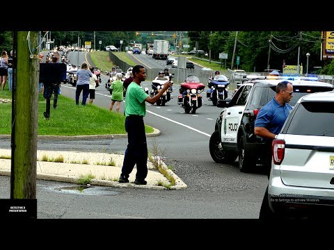 Freehold: Motorcade  Escorting The Body Of A Fallen U.S Marine. 07/24/17
