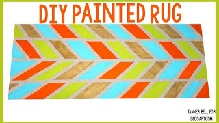 DIY Painted Rug | Tanner Bell