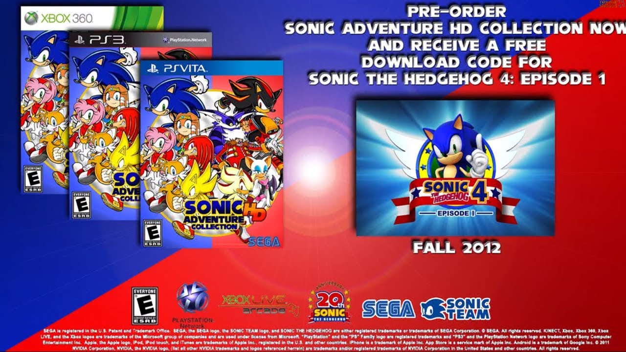 Sonic Adventure Hd Collection Trailer Ps Vita Ps3 Xbox 360 Fall 2012 Youtube