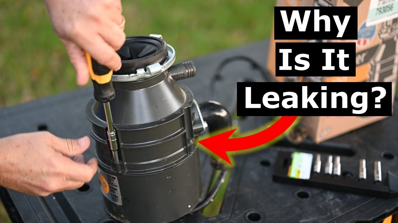 why your garbage disposal leaks from bottom disassembly