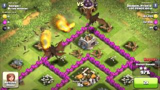 Clash Of Clans: 10 level 3 dragon Attack + Epic Raiding Strategy!