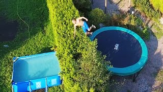 GESTOORDE TRAMPOLINE TRICKS OVER HEG ft. Prankster