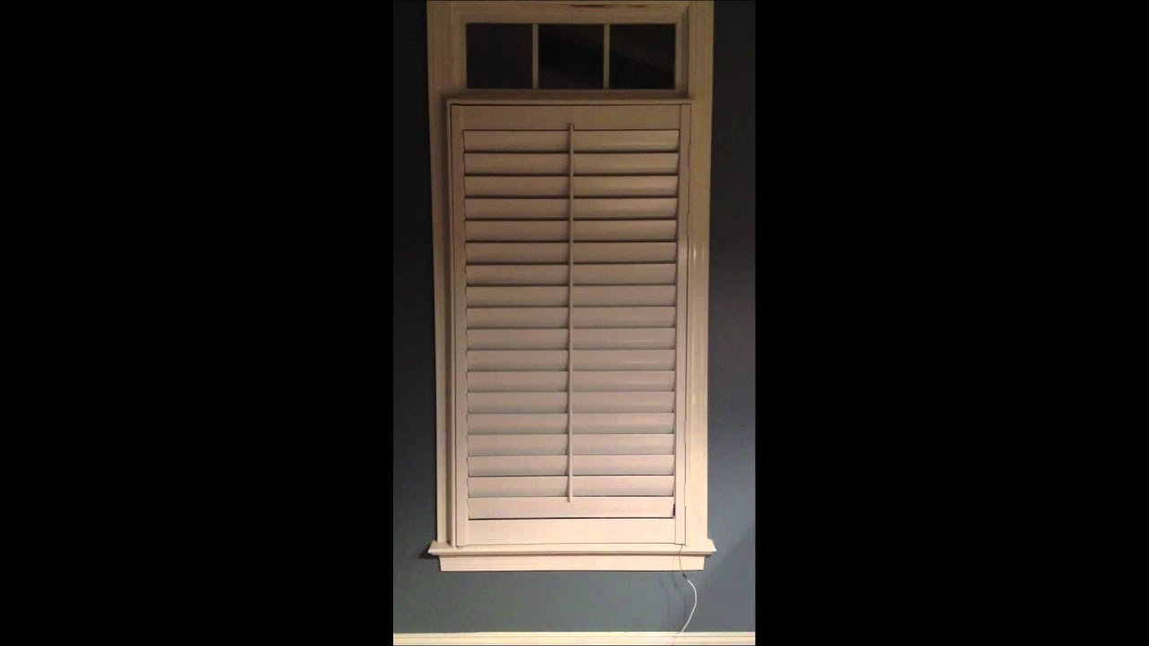 Motorized Window Plantation Shutters Youtube