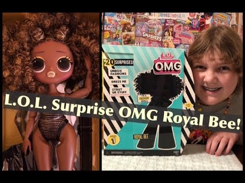 NEW L.O.L. Surprise! O.M.G. Fashion Dolls – LOL OMG Royal Bee Doll – Unboxing & Review