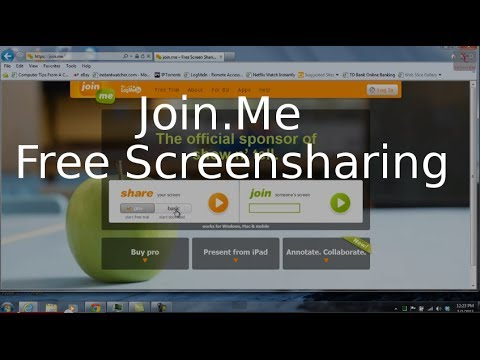 Join.Me  -  Free ScreenSharing Service Tutorial