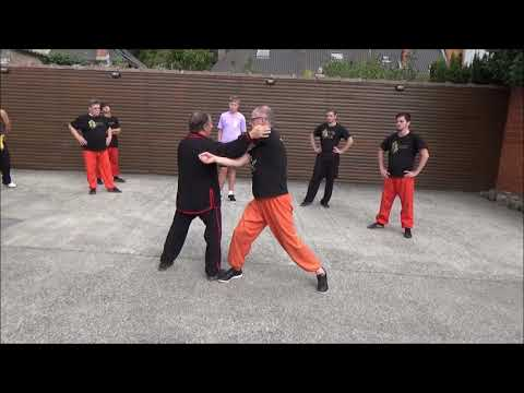 Grandmaster Walter Toch with his sunday class Chinese selfdefense