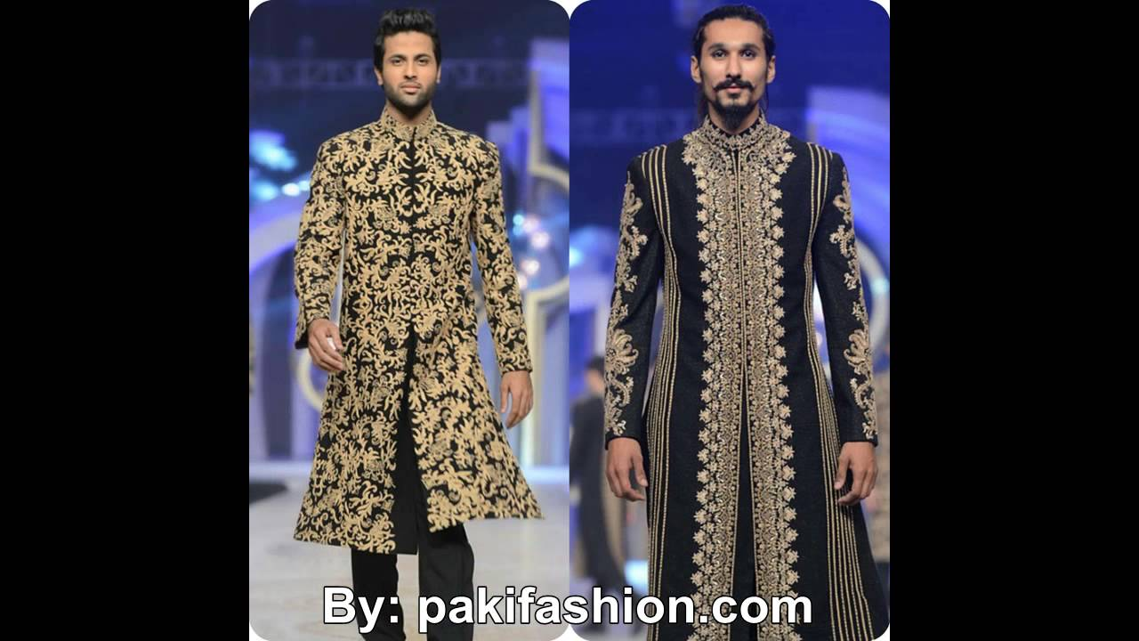 Latest Wedding Dress Sherwani Designs 2016 For Men By HSY - YouTube