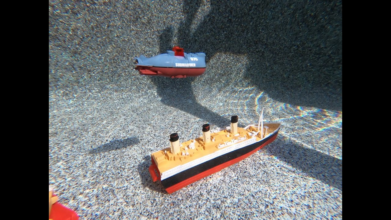 Larry Life Titanic Mini Japanese Sub and Queen Mary