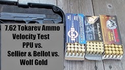 7.62 Tokarev Ammo Review- PPU - S&B - Wolf gold