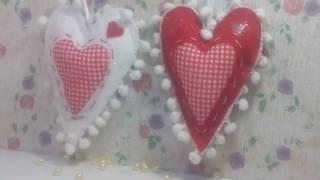 Coração em feltro para decoração
