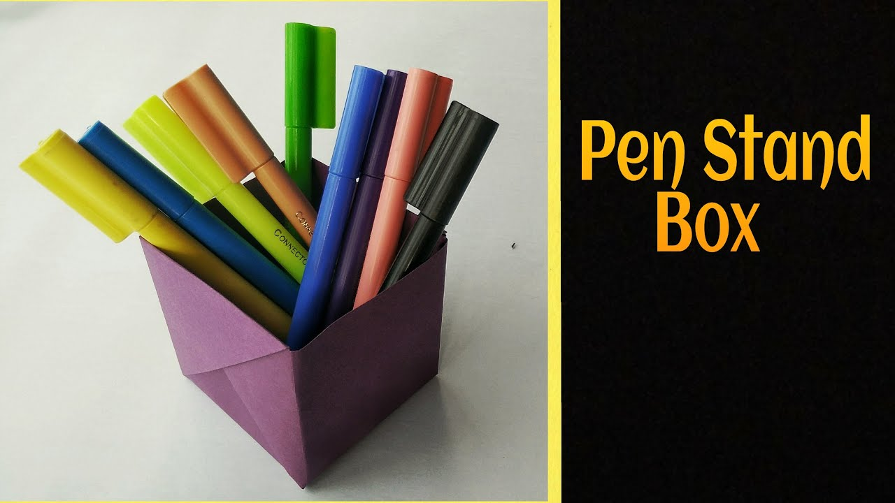 useful origami paper quotstrong pen stand boxquot a4 sheet