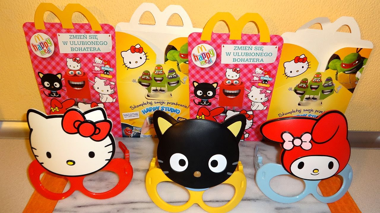 Hello Kitty Mcdonald S Toys : Hello kitty mask complete set in happy meal mcdonalds europe