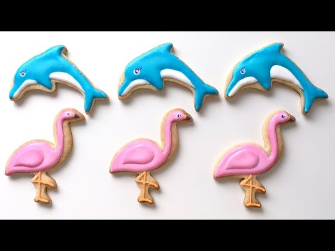 How To Decorate Dolphin and Flamingo Cookies!