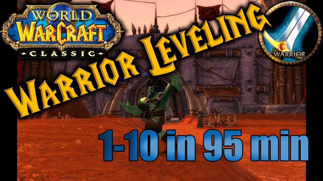 Classic WoW: Fastest Warrior Leveling (Durotar) 1-10 Guide