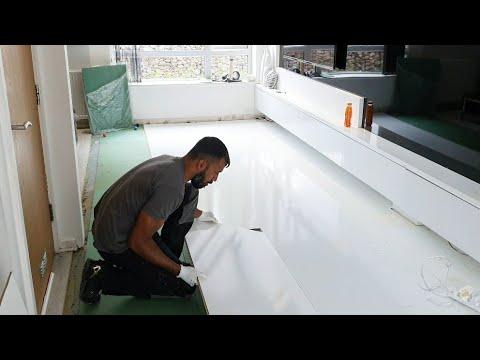 High Gloss White Laminate Tile Flooring