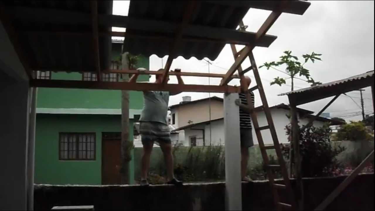 Colocando Telhado Na Garagem I Youtube