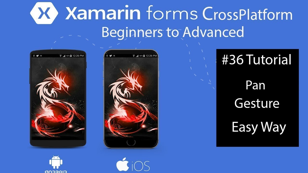 Xamarin Forms horizontal scrolling of an Image wider than the display  [Tutorial 36]