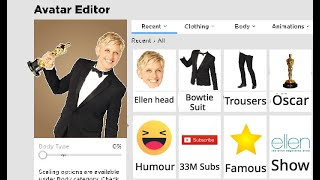 Making Ellen DeGeneres a ROBLOX Account!