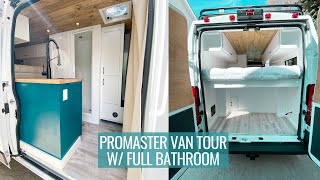 CUSTOM BUILT VAN FOR SOLO FEMALE TRAVELER | promaster van tour with full bathroom