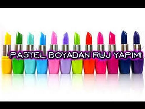 Pastel boyalarla ruj yapımı