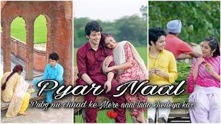 Pyar Naal ❤️ love Punjabi Song Full Screen Whatsapp Status | Anushka Sen & Darsheel Safary