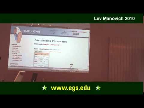 Lev Manovich.  Contemporary Information Visualization and Categorization. 2010 3/3