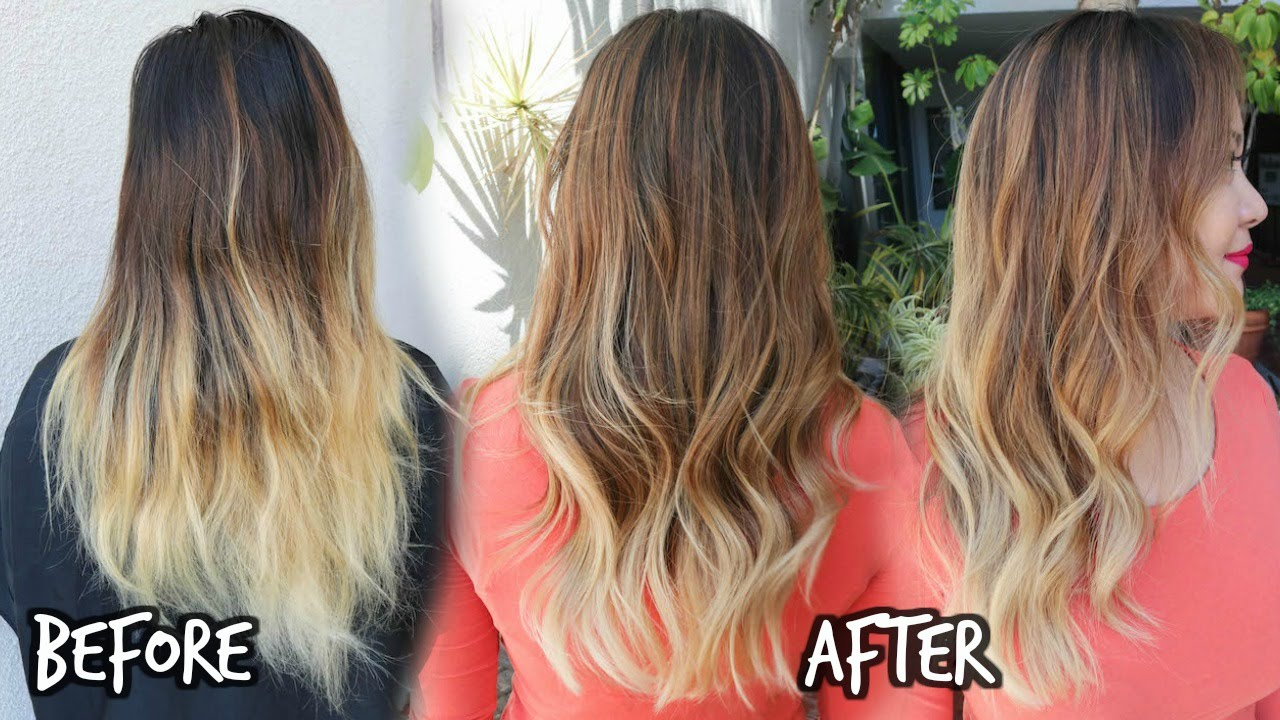 Balayage Ombre Color Touch Up - YouTube