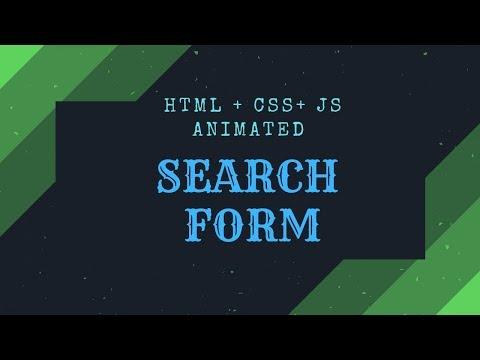 Анимированная форма поиска для сайта на HTML, CSS, JavaScript