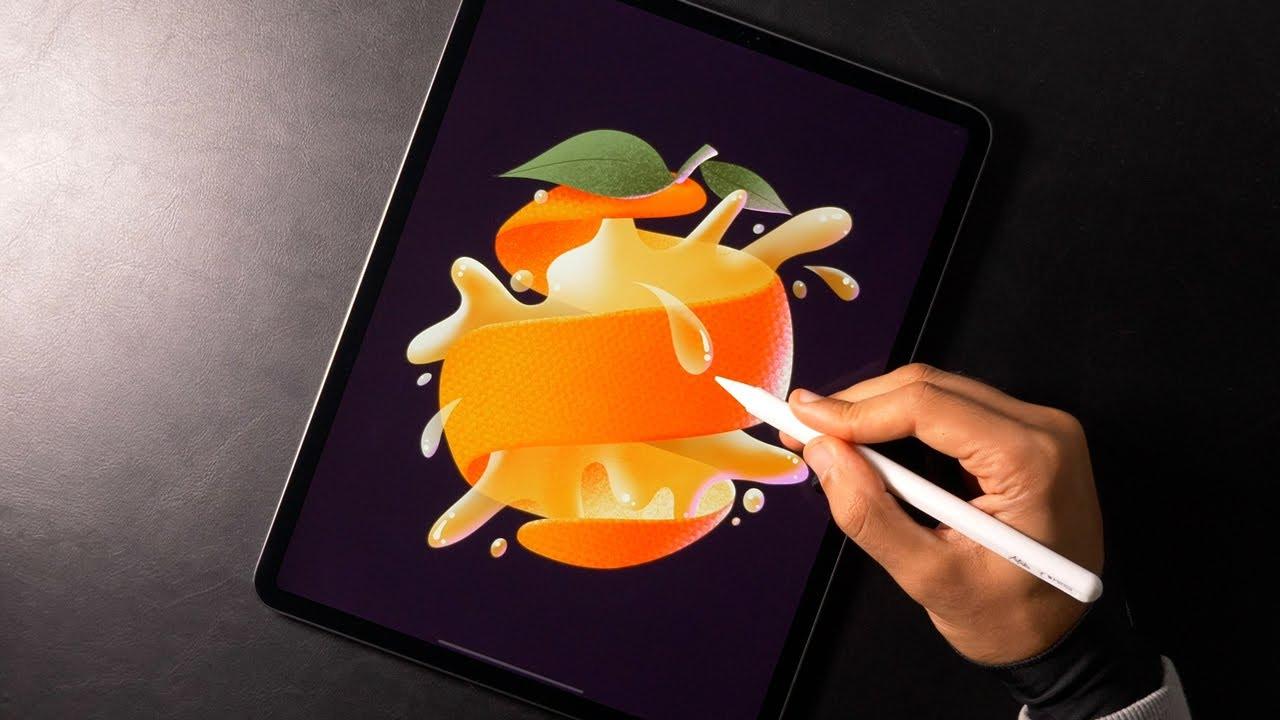 Orange Juice | Illustration with Procreate
