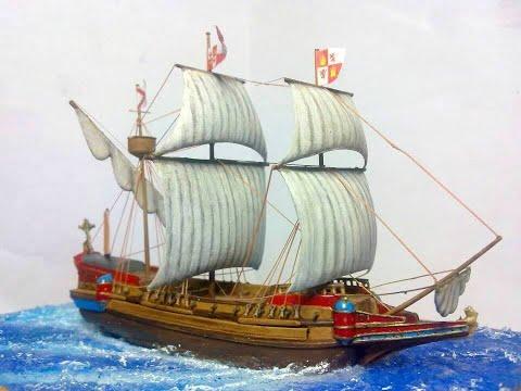 Galeón español, siglo XVI. Escala 1:450 Spanish Galleon, XVI Century, 1:450 scale