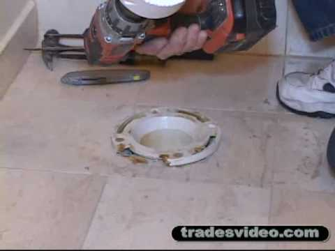 Replacing Broken PVC Toilet Flange Part One flv