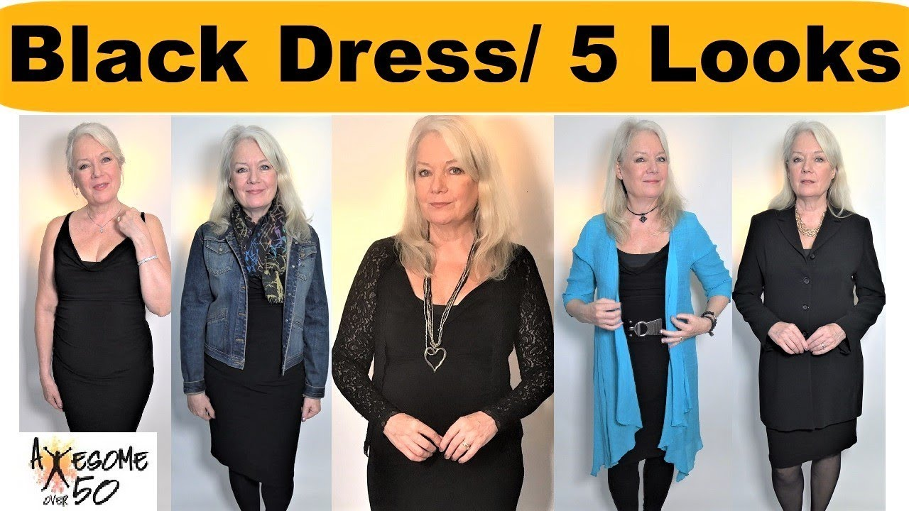 e2cea7ae047 1 Little Black Dress and 5 Looks   Outfits