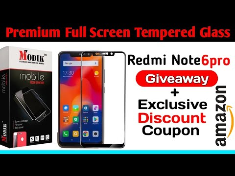 Redmi Note 6 Pro Best 6D Edge to Edge Tempered Glass, Giveaway Redmi Note 6 Pro Tempered Glass