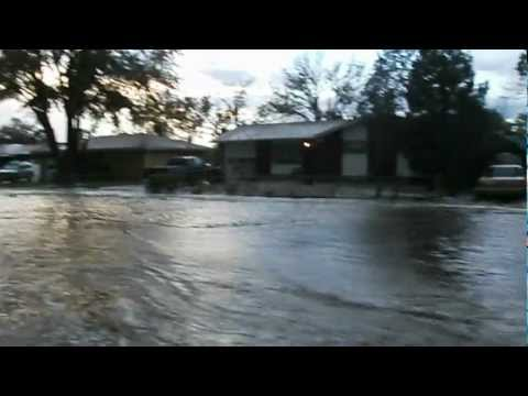 Major Street Flooding on Widefield Blvd Widefield Colorado