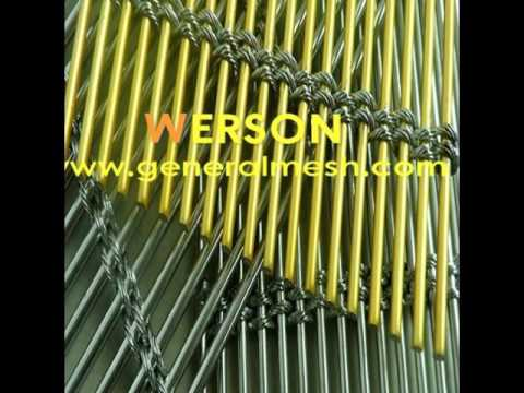 generalmesh Architectural cable Mesh in stainless steel and brass