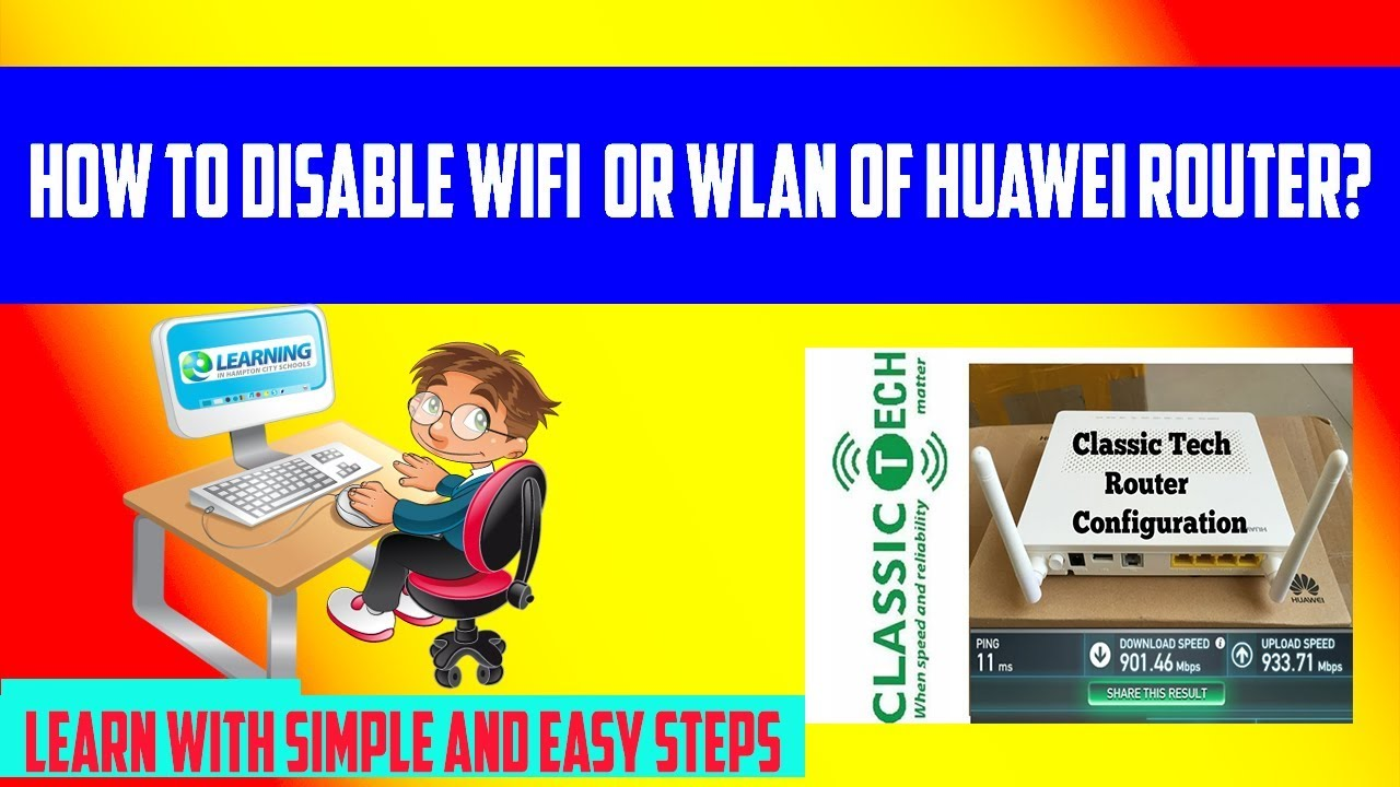 HOW TO ENABLE OR DISABLE WIFI OR WLAN OF HUAWEI ROUTER?