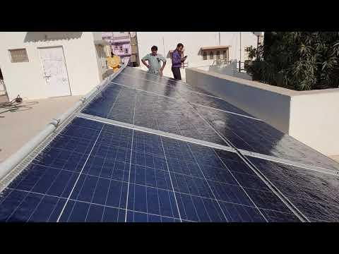 Fully Automatic Solar Panel Washing Plan