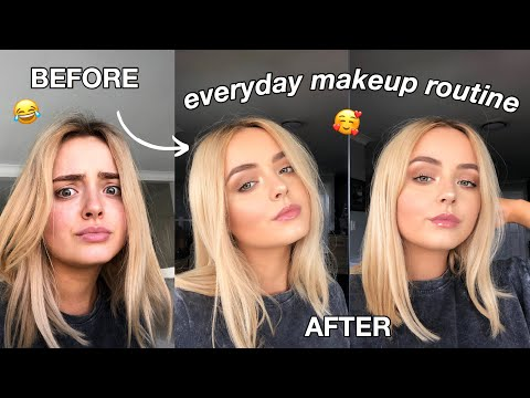 EVERYDAY MAKEUP ROUTINE   MY GO TO MAKEUP FOR FLAWLESS & NATURAL LOOKING SKIN!   Conagh Kathleen thumbnail