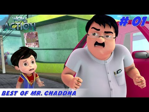 Best of Mr. Chaddha - Part 1 | Vir the Robot Boy | Mixed Gags for kids | WowKidz Action