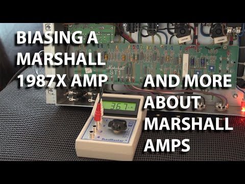 How to: Biasing Marshall Tube Amps 1987X and tube matching Bias Master in use | tonymckenziecom