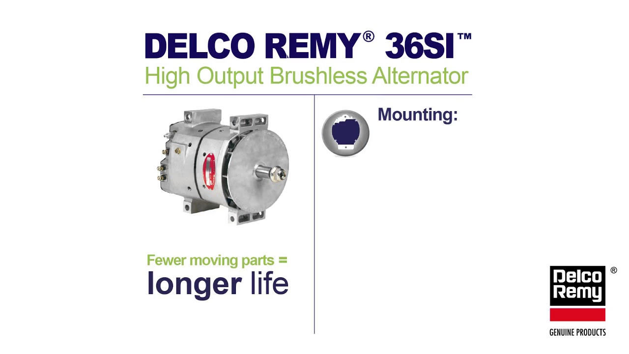 36si heavy duty alternator infographic | borgwarner delco remy genuine  products